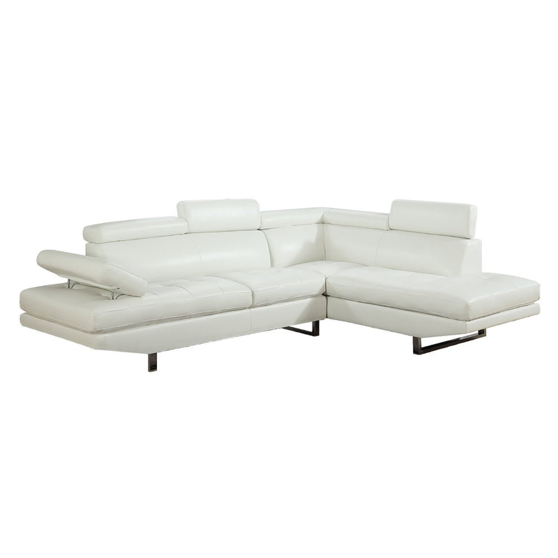 WYATT SECTIONAL WHITE 9782A H260