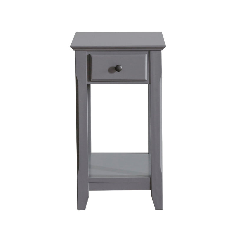 Juliana Chair Side End Table   Gray