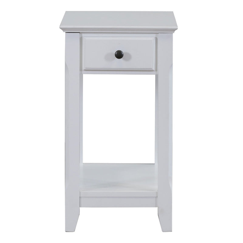 Juliana Chair Side End Table   White