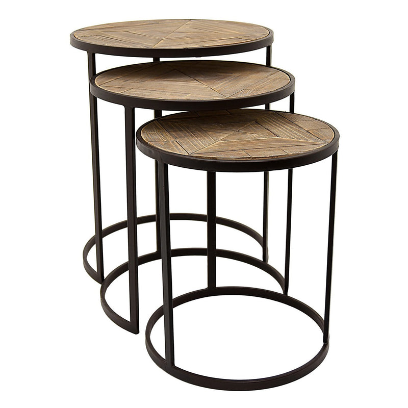 Kyra 3 Piece Nesting Tables - Brown