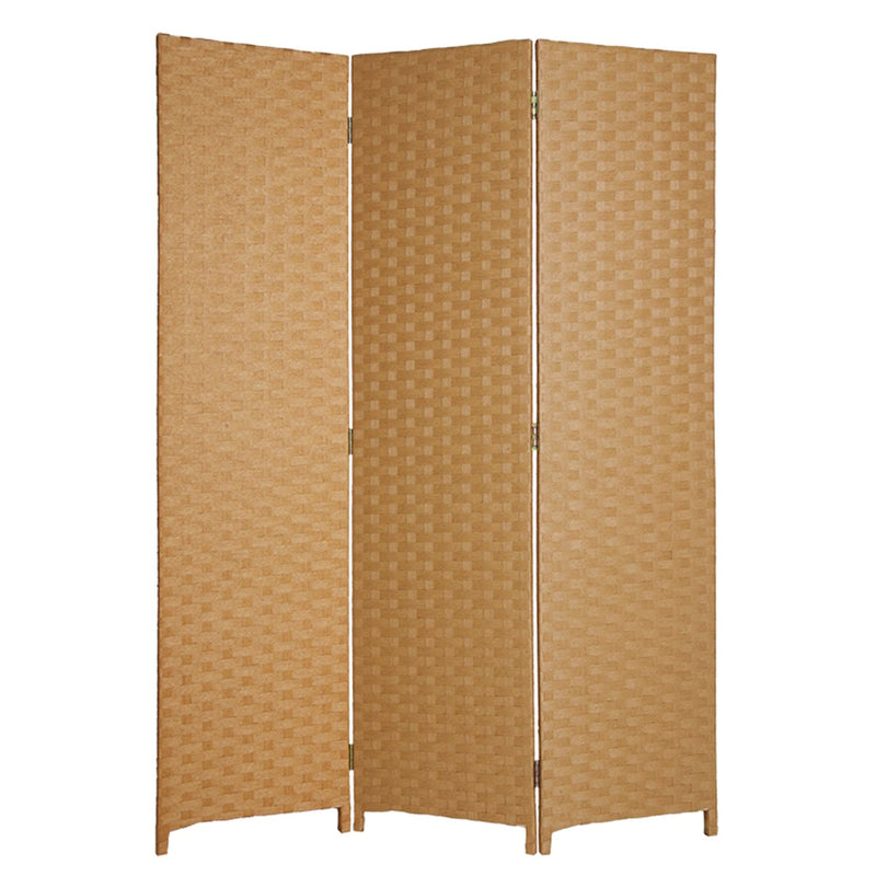ANDRE 3 PANEL BASKET WEAVE SCREEN LT BROWN SG-68 LB