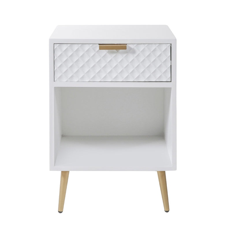 Gemma Accent Table - White