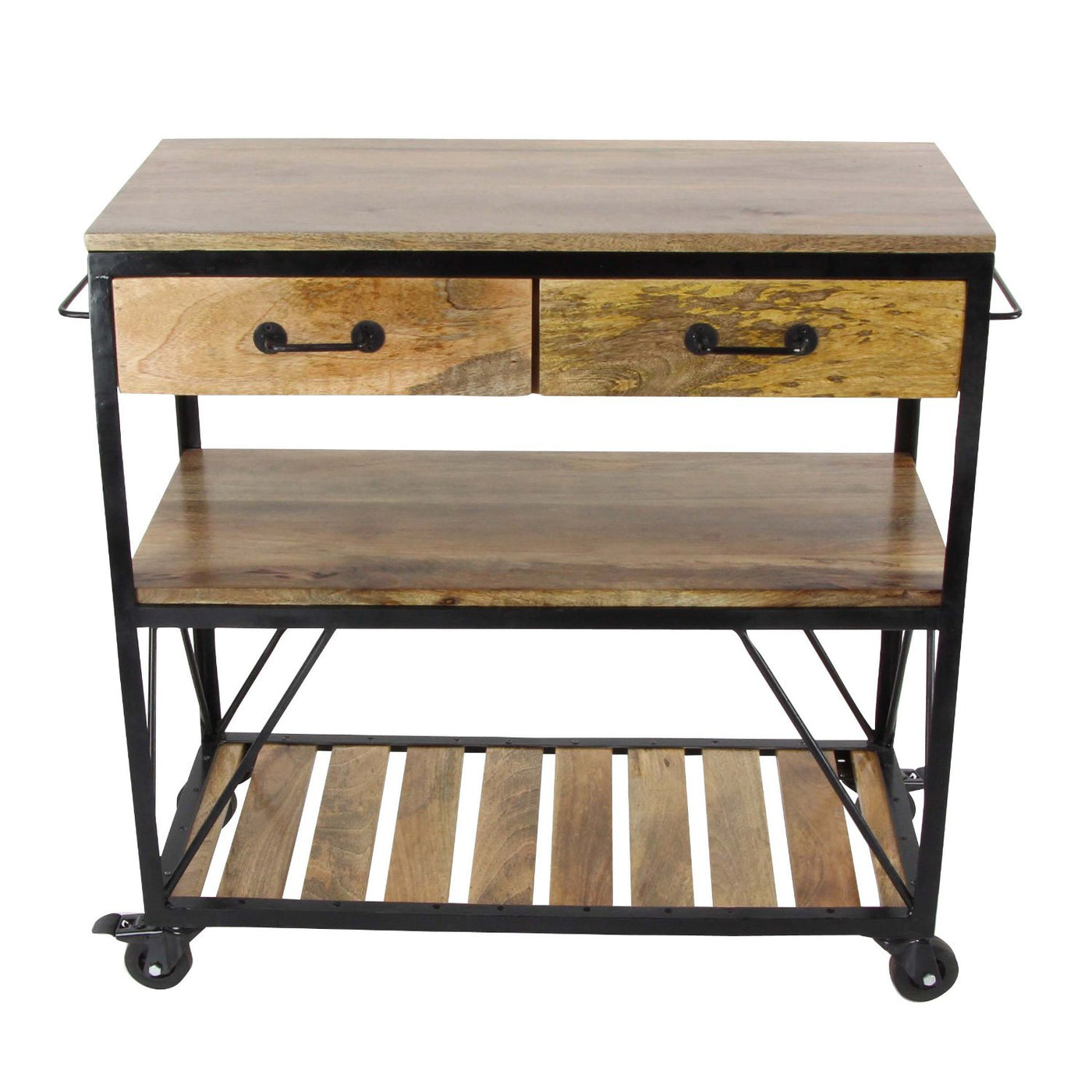 Haley Kitchen Cart - Brown – Aki-Home