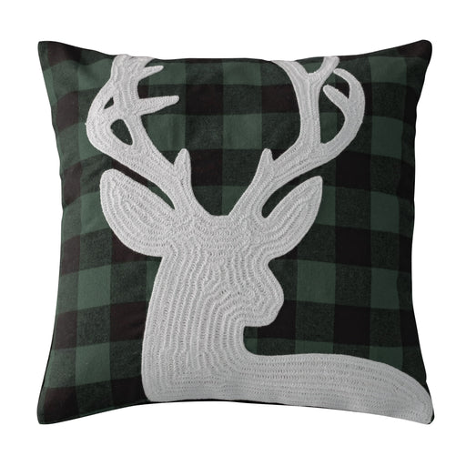 Deer Head Accent Pillow