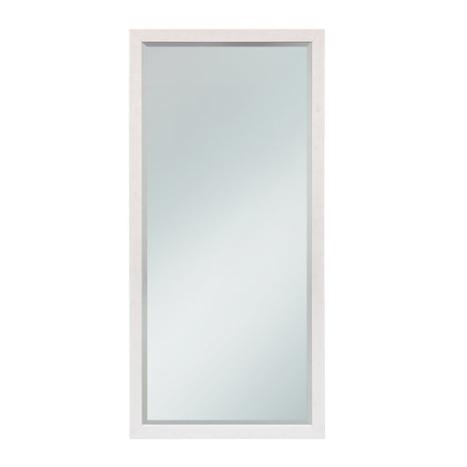 White Wood Leaner Mirror