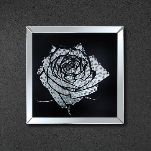 Rose Mirrored Wall Decor