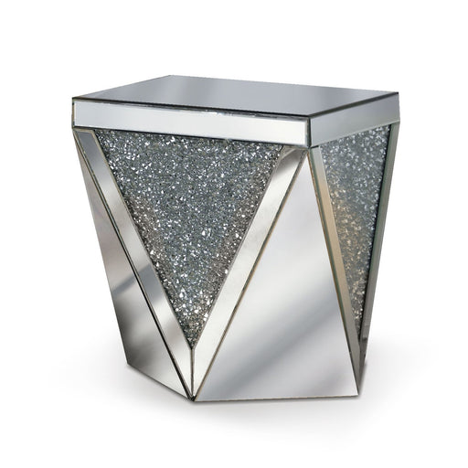 Bianca End Table - Mirrored