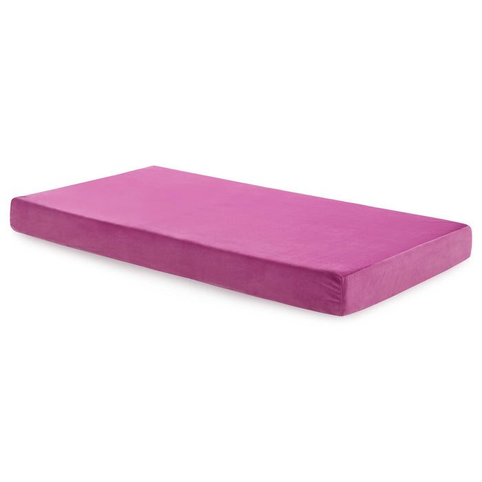 "Aki-Sleep 6"" Brighton Pink Twin Mattress - Firm"
