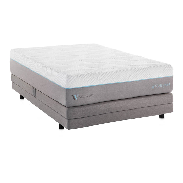 "Crescent Bay 14"" Gel Memory Foam Hybrid Mattress"
