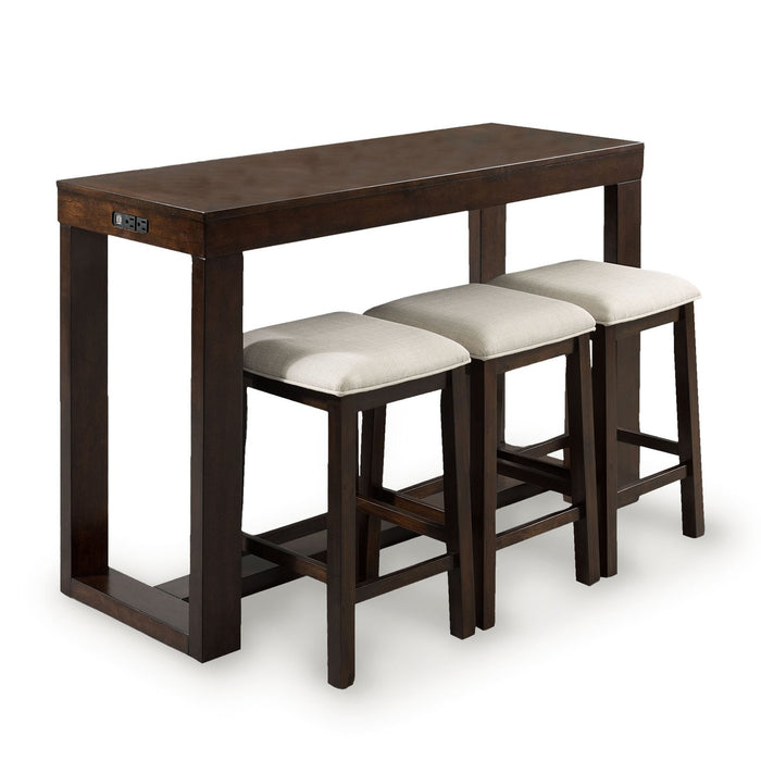 Genos 4PC Sofa Table & Stool Set