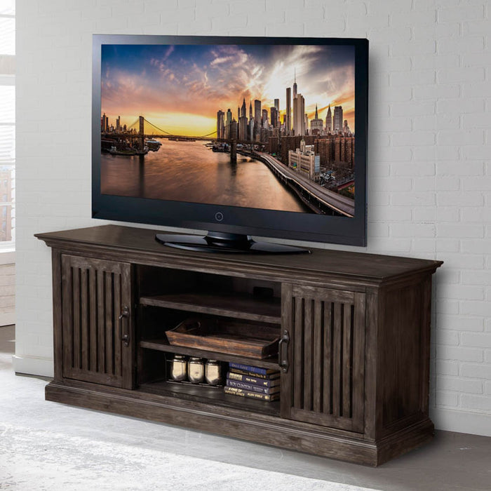 "Brookside 68"" TV Console W/Pair of Bookcase Piers"