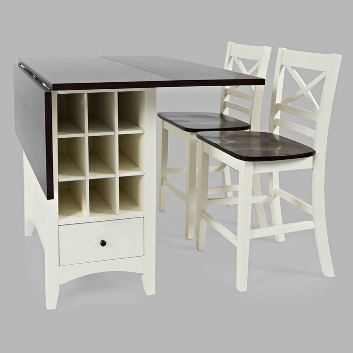 Abilene 3PC Storage Counter Height Table Set