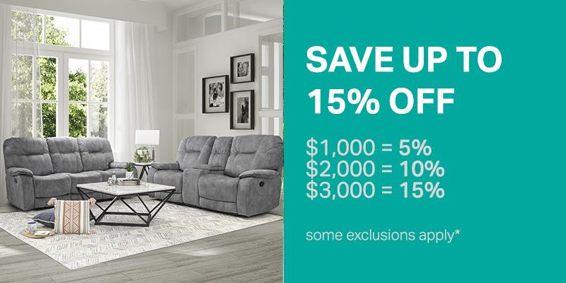Save Up to 15% OFF