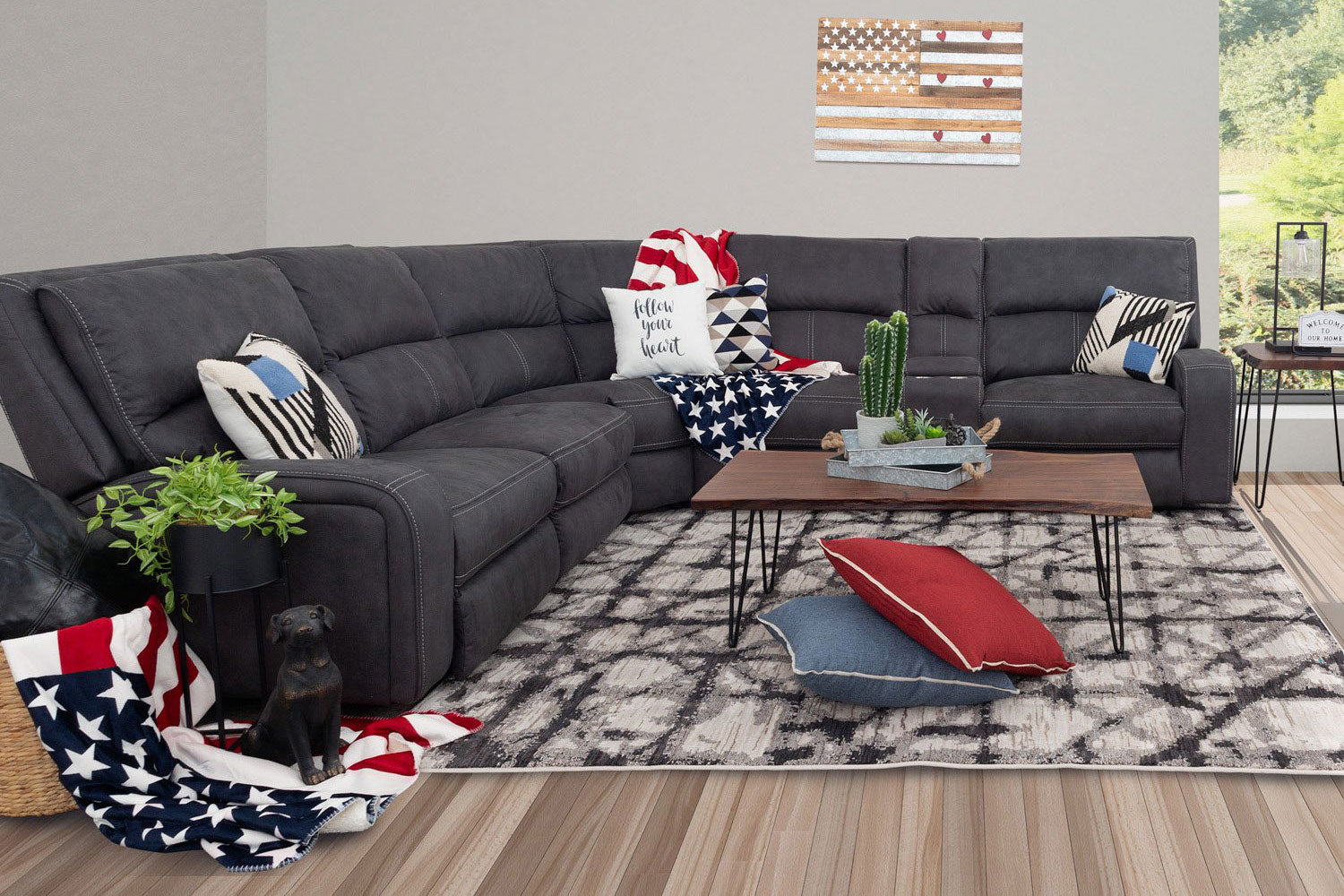 Dillon 6PC Dual Power Sectional