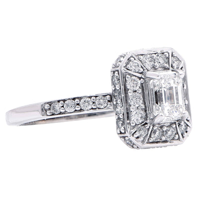 .45 Carat GIA Graded H/VS2 Emerald Cut Diamond Engagement Ring