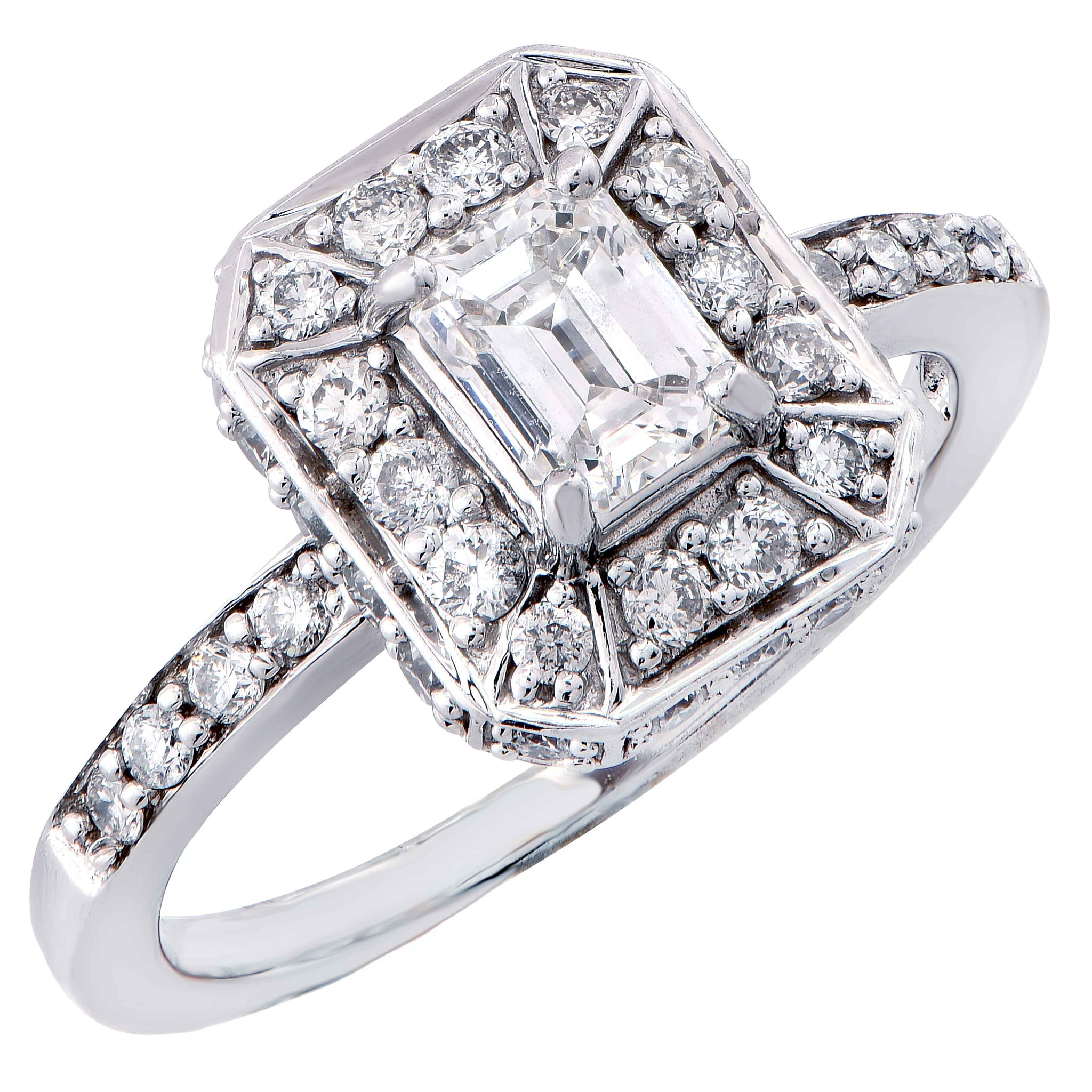 featuring ring emerald classic square cut stones emerlad wedding trilliant diamond with a collections side rings graff