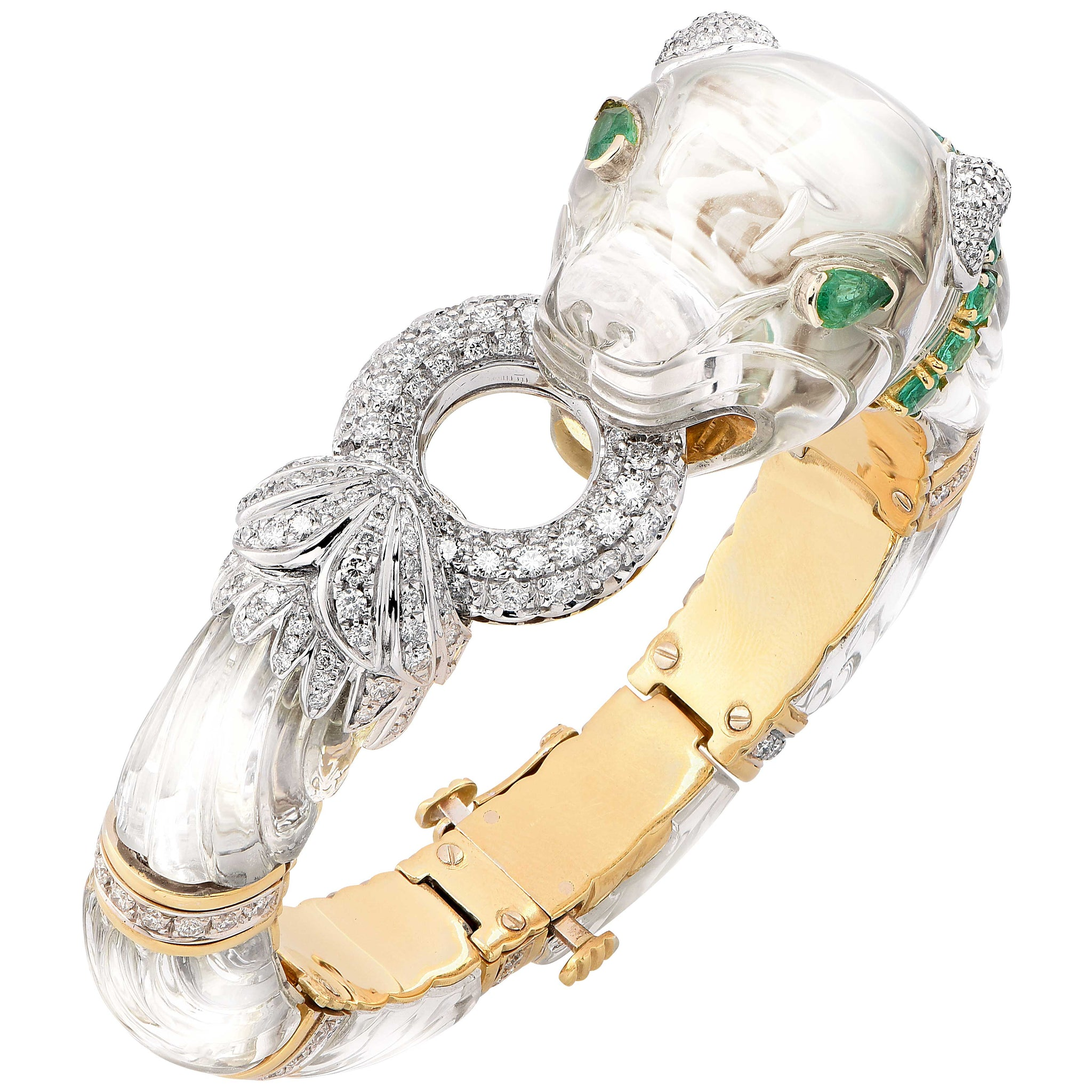 jewelers stephen each wiseley platinum bracelet product cut diamond emerald