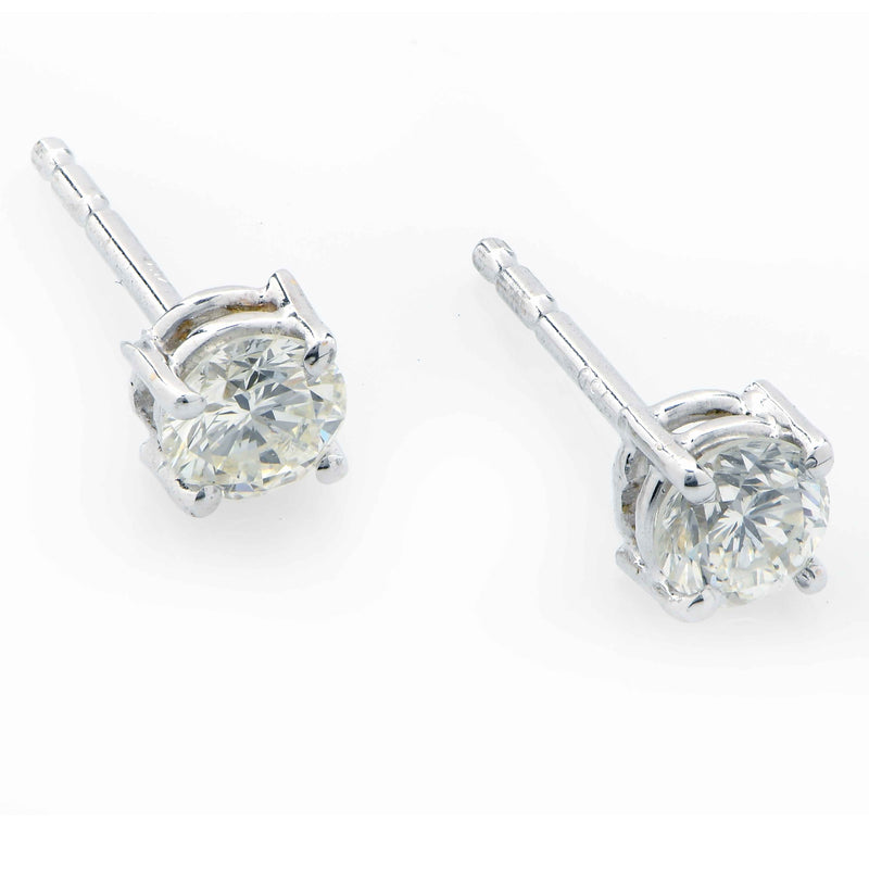 .60 Carat Total Weight Diamond Stud Earrings