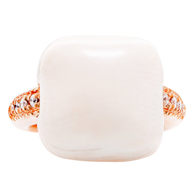 Natural Bone Diamond Rose Gold Ring