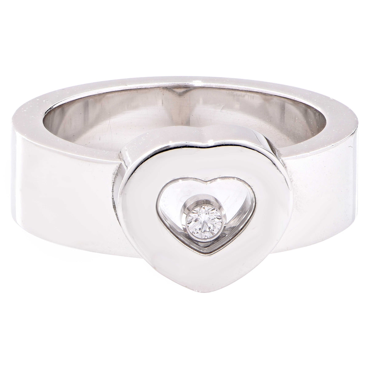 Chopard Happy Diamond Heart  White Gold Ring