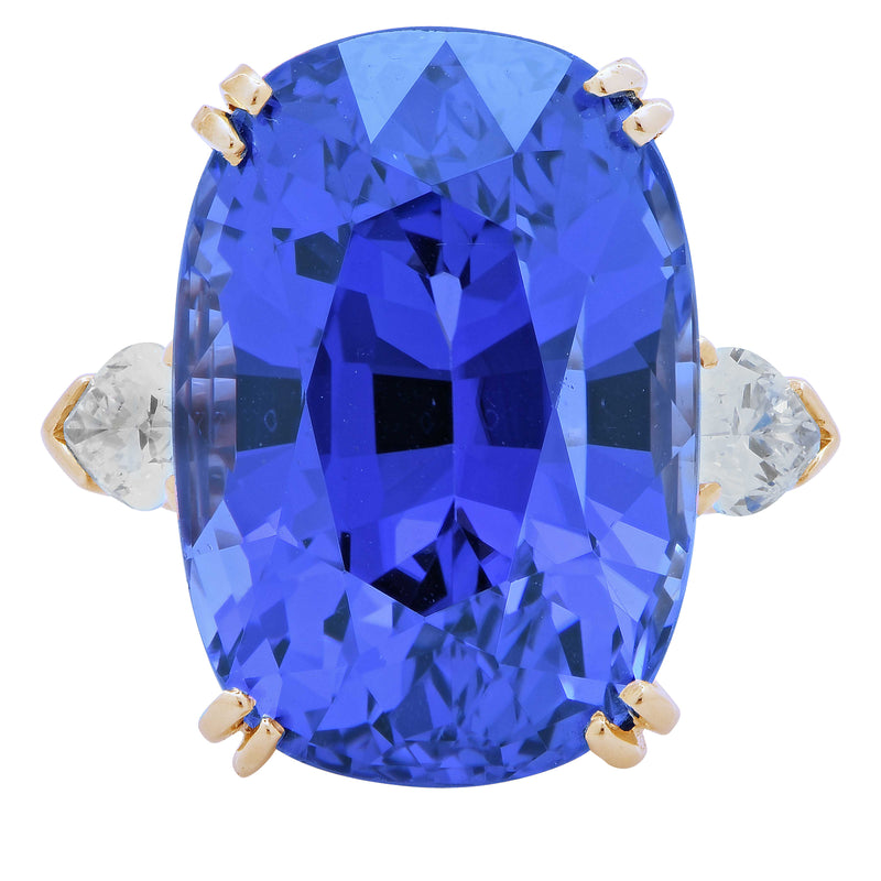 24.15 AGL No Heat Ceylon, Color Change Sapphire and Diamond Ring