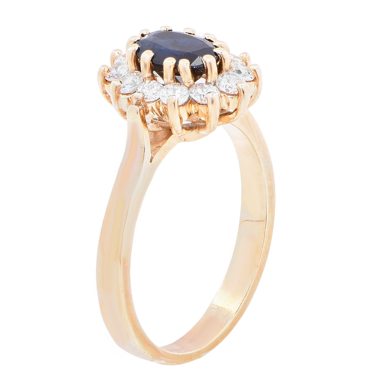 Natural Sapphire Diamond Gold Ring