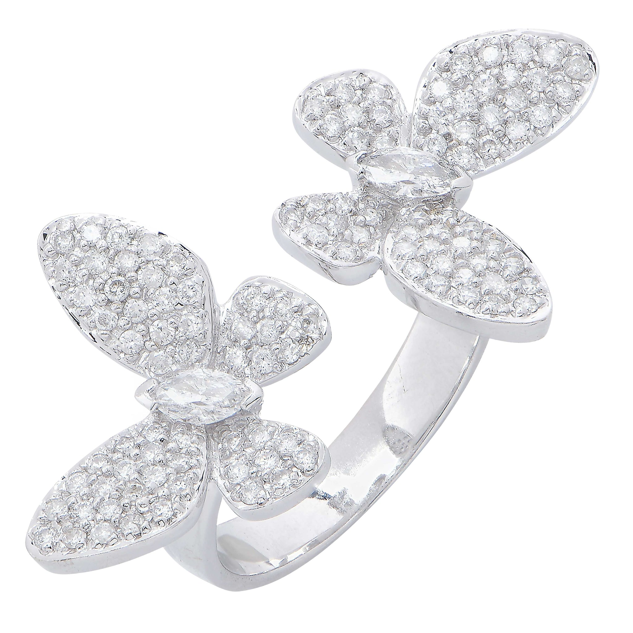 ring graff butterfly a collections princess diamond