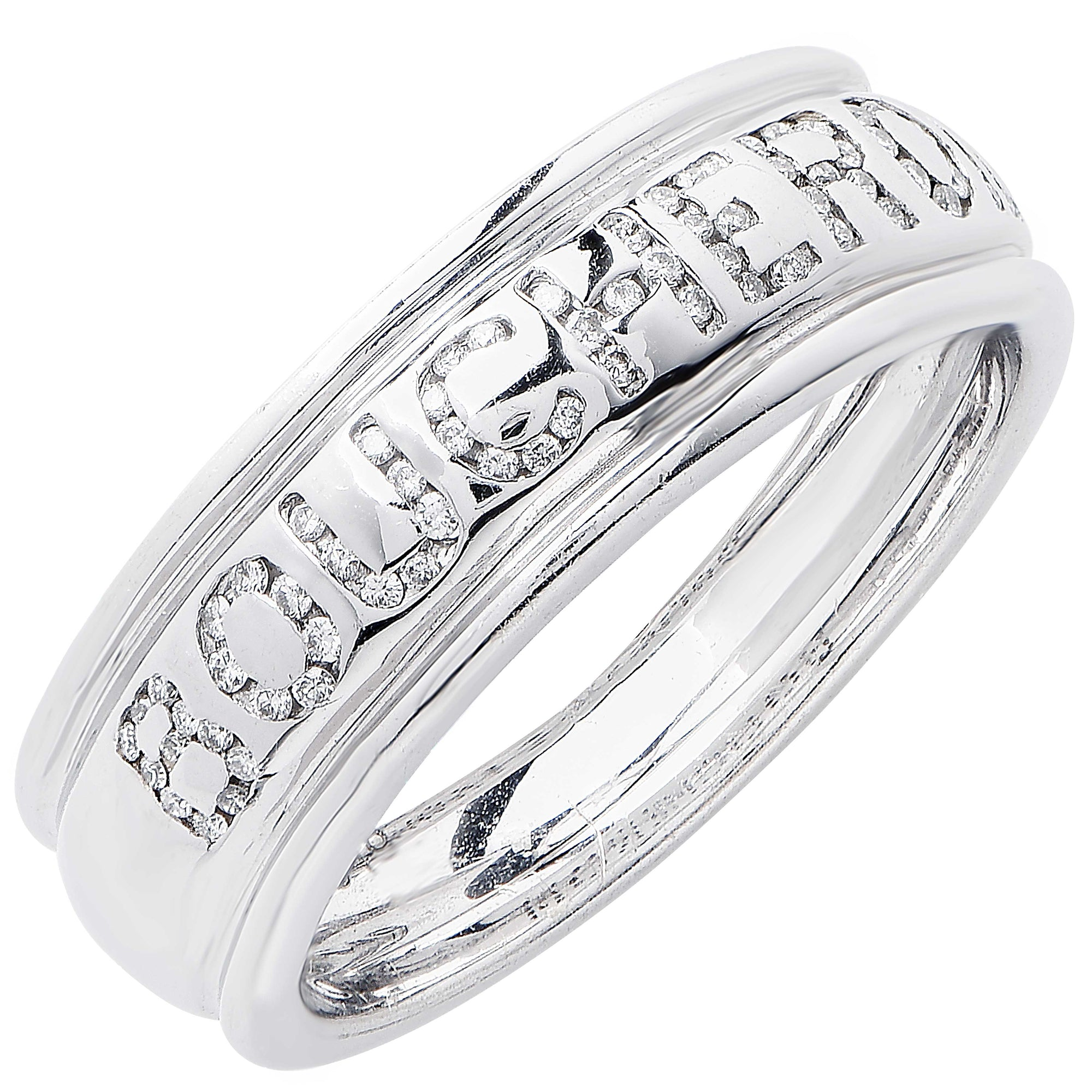 Boucheron Diamond White Gold Wedding Band Ring