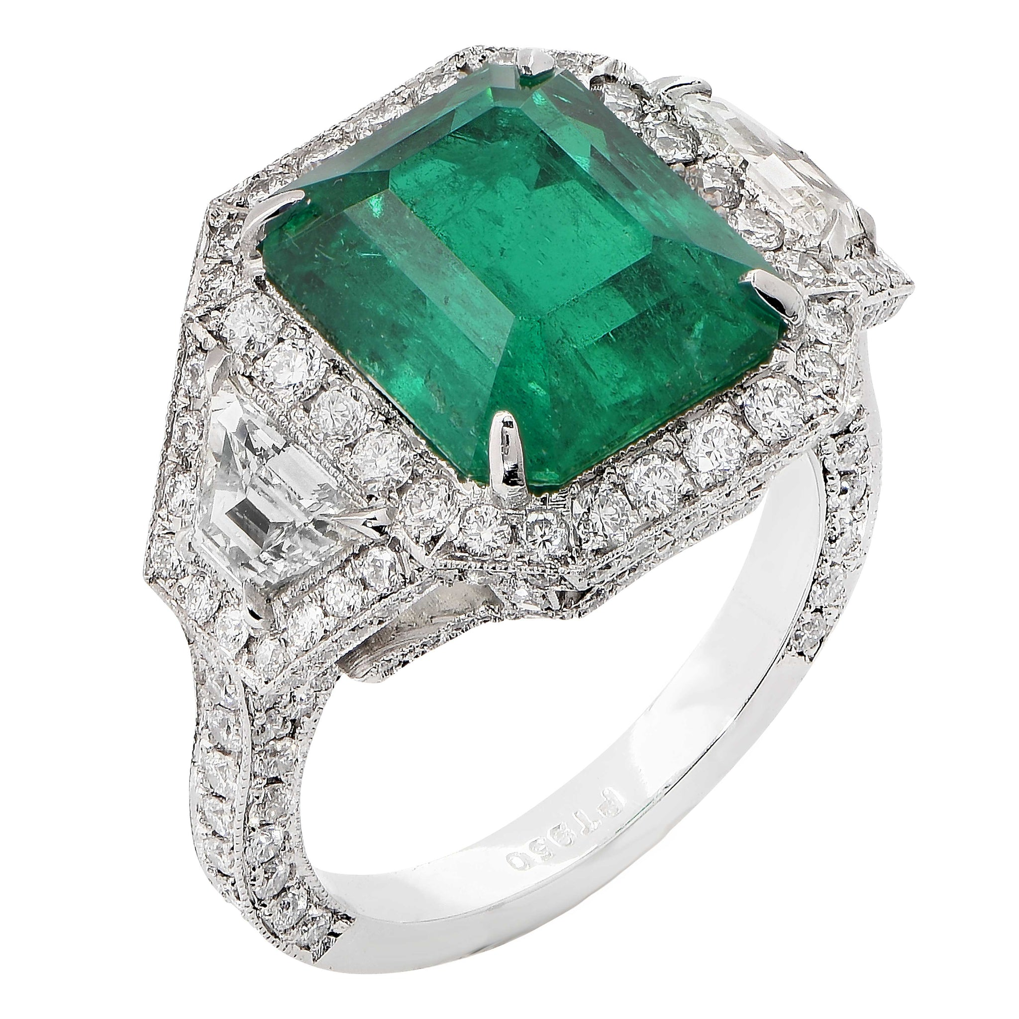 stone emerald yellow promise big diamond gold engagement carat halo ring