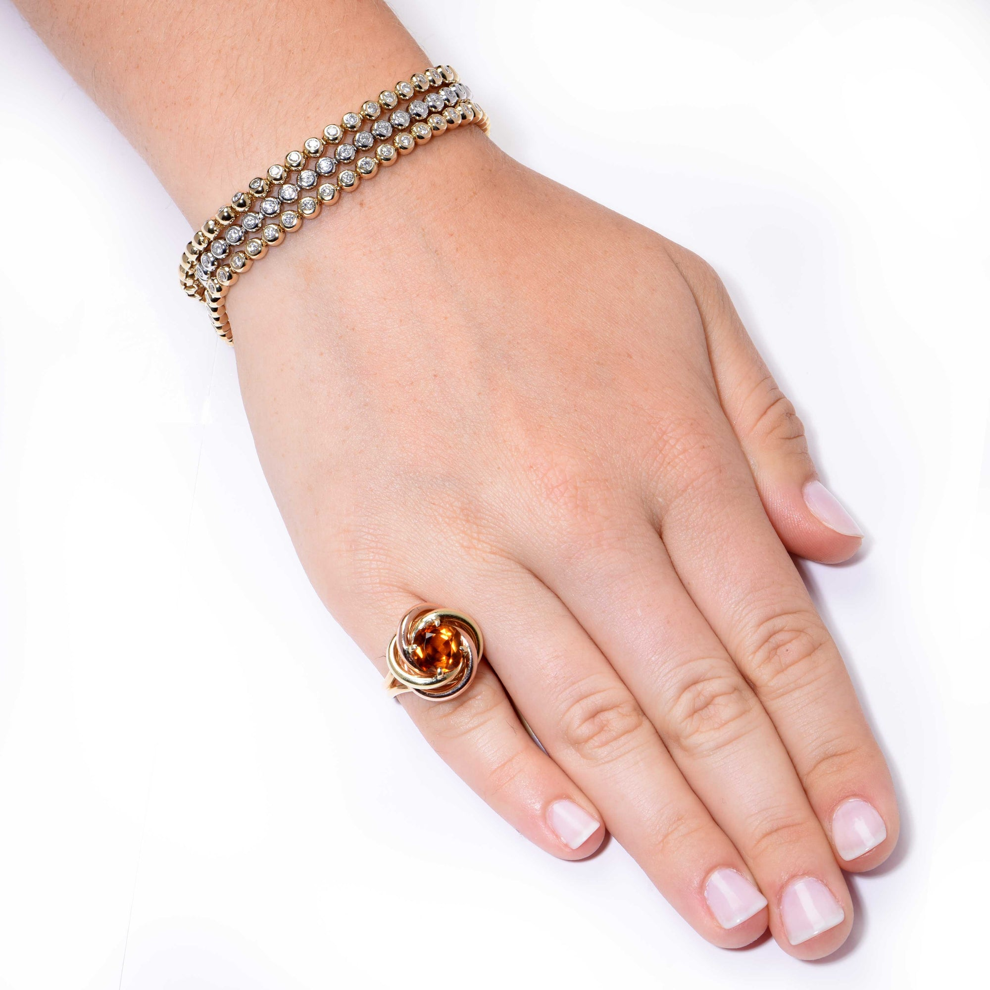 1940s Cartier Retro 2 75 Carat Citrine Love Knot Gold Ring Regent Jewelers Miami And Coral Gables