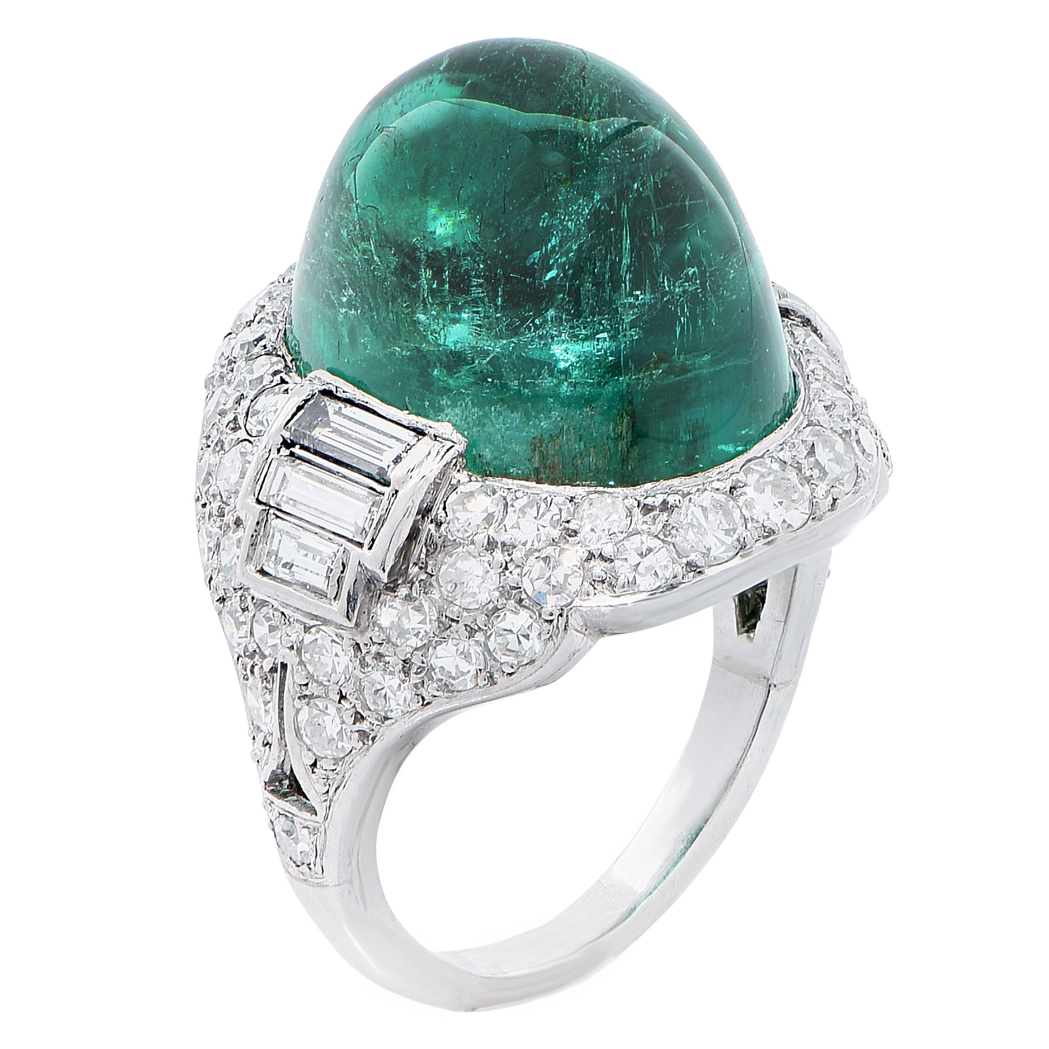 brutalist antiques ring emerald fine mens shop
