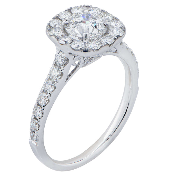 .82 Carat Round Brilliant Cut Diamond Engagement Ring in 18 Karat White Gold