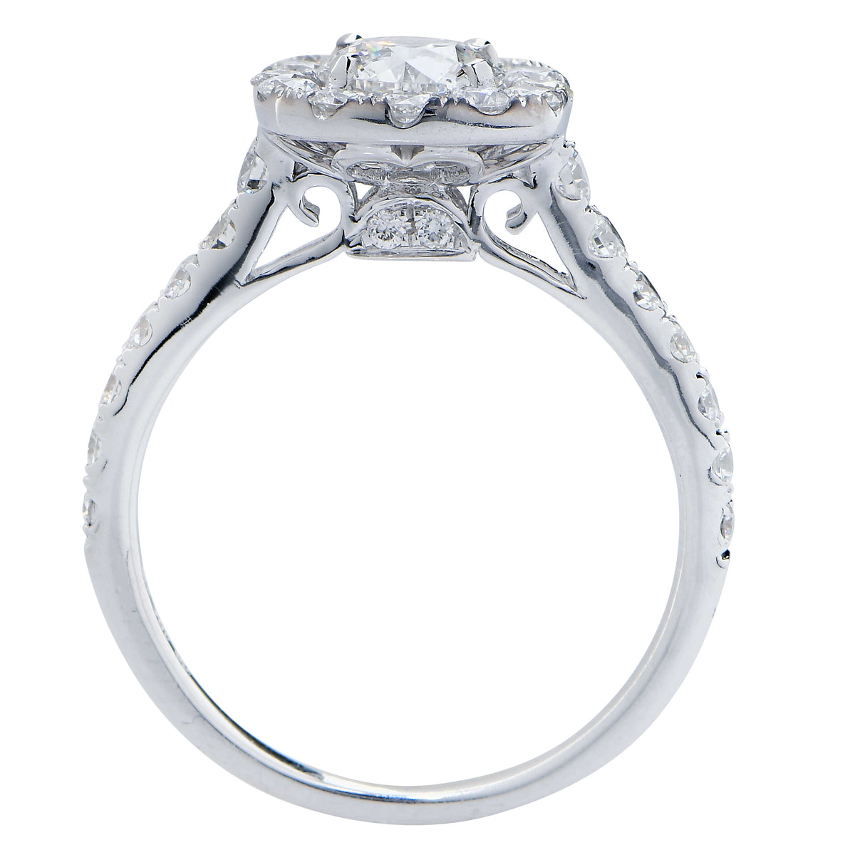 .82 Carat GIA Graded Round Brilliant Cut Diamond Engagement Ring in 18 Karat White Gold