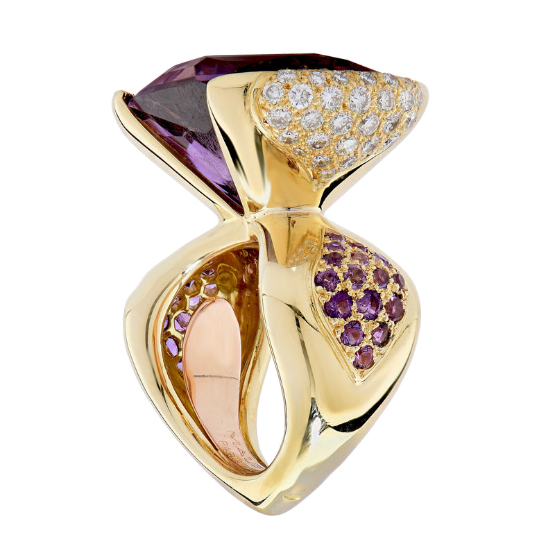 Mauboussin Paris 20 Carat Amethyst and Diamond Ring