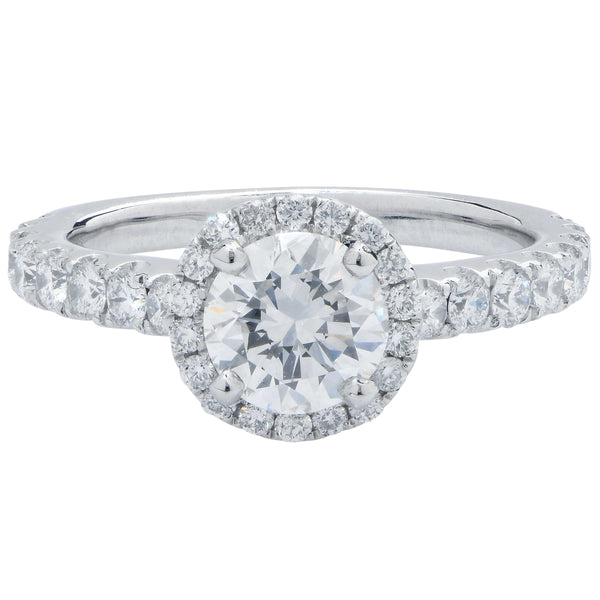 1.02 Carat GIA Graded Round Brilliant Cut Platinum Engagement Ring