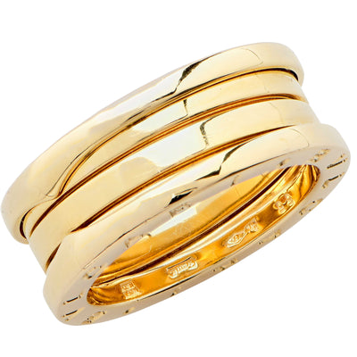 Bulgari Bzero Two Section Ring in 18 Karat Yellow Gold