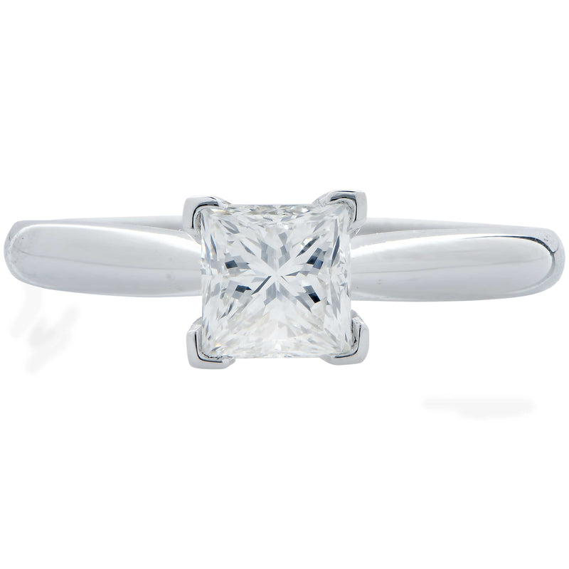 .91 Carat GIA Graded H / VS1 Princess Cut Diamond Engagement Ring