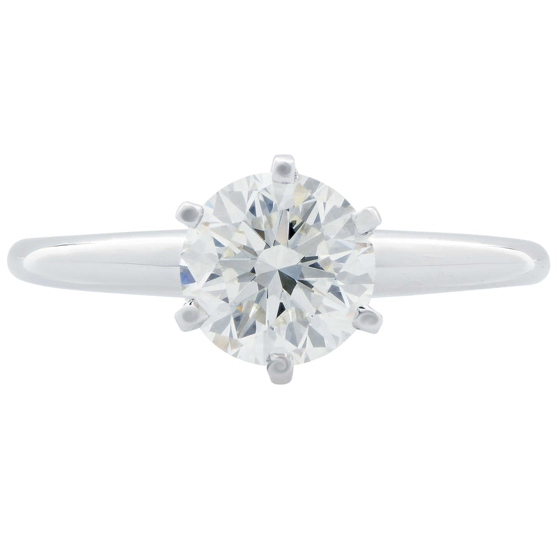 1.21 Carat Round Brilliant Cut GIA Graded I/VS2 Diamond Engagement Ring