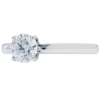 .63 Carat GIA Graded D Color, Internally Flawless Round Brilliant Cut Diamond Platinum Engagement Ring