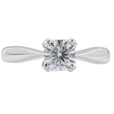 .96 Carat GIA Graded Square Modified Brilliant White Gold Ring