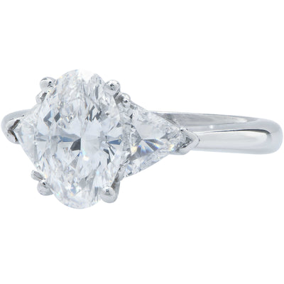 1.65 Carat Oval Cut Diamond GIA Graded D/VS2 Engagement Ring
