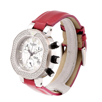 Clerc Ladies CXX Diamonds with Diamond Bezel Wristwatch