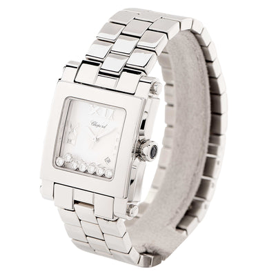 New Chopard Ladies Stainless Steel Happy Sport Medium Quartz Wristwatch