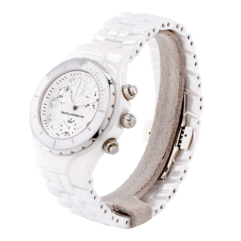 Technomarine Ladies White Ceramic Wristwatch