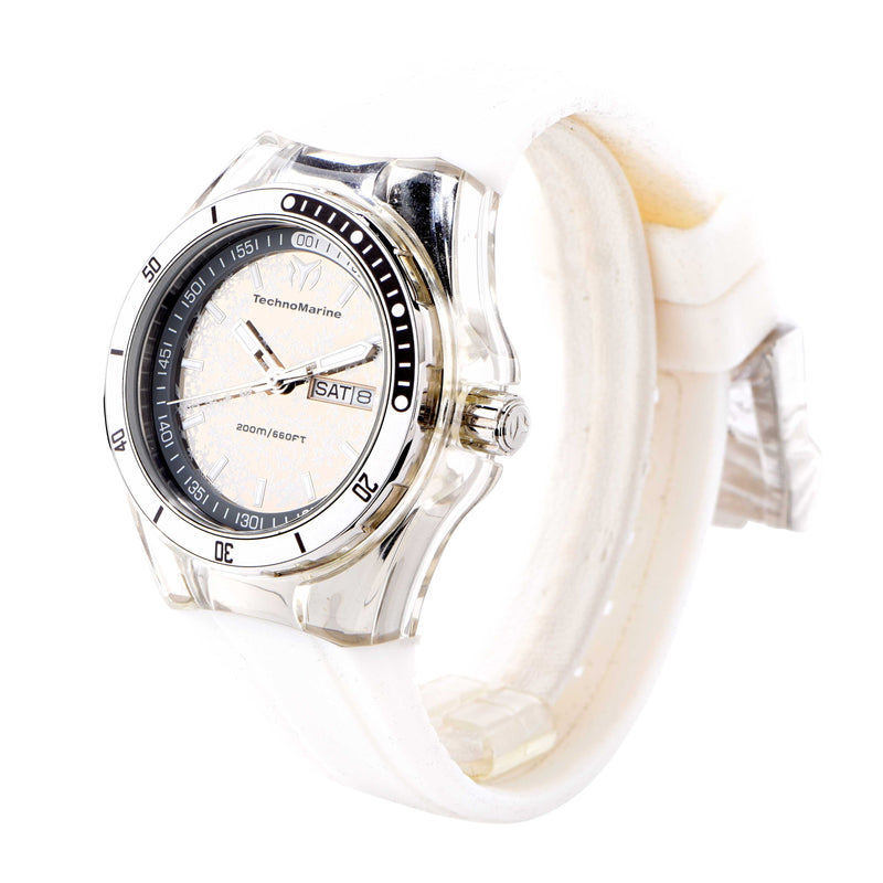 Technomarine Ladies White Silicon Cruise Sport Snow Wristwatch