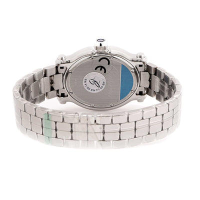 New Chopard Ladies Stainless Steel Happy Sport Oval Quartz Wristwatch