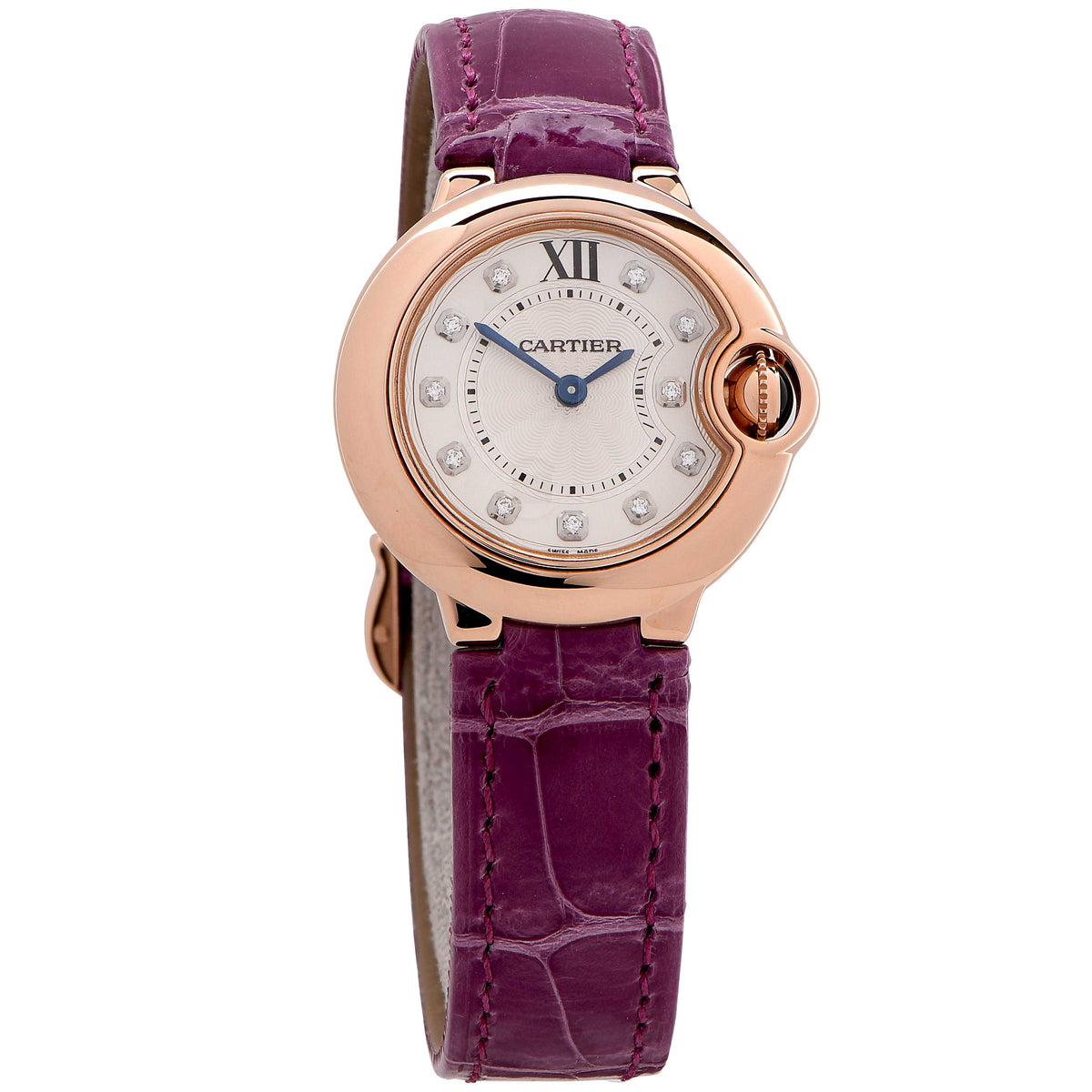 New Cartier Rose Gold Ballon Bleu Wristwatch