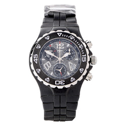 Technomarine TMY Ceramic Black Bezel Sand Blasted Dial Stainless Steel Watch