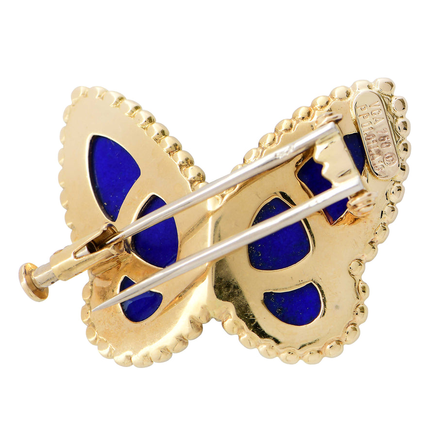 Van Cleef & Arpels Lapis Lazuli and Diamond Butterfly Pin