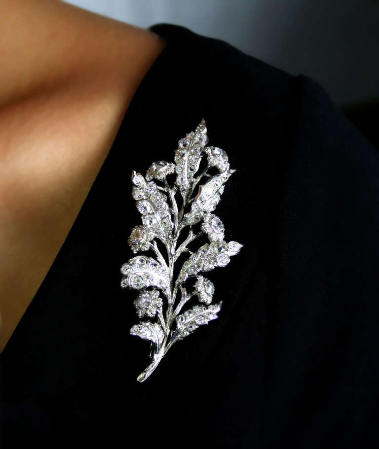 1930s 4 Carat Buccellati Diamond Brooch